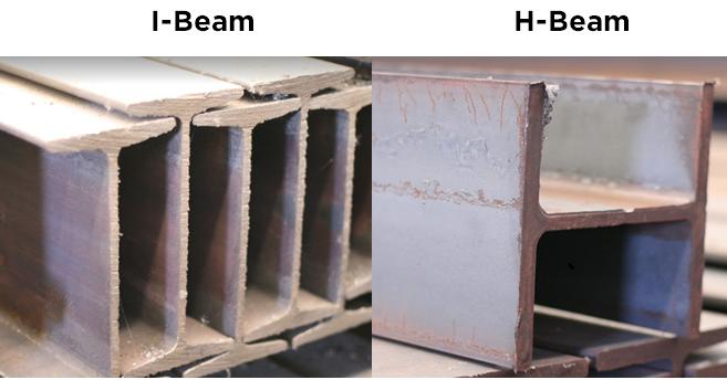 ข้อแตกต่างของ H-BEAM กับ I-BEAM