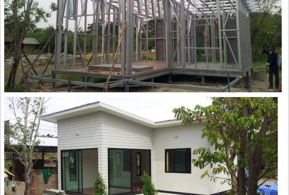 บ้านหลังน้อยสร้างเร็ว กับระบบ STEEL FRAME ใช้เหล็กกล่องสร้าง