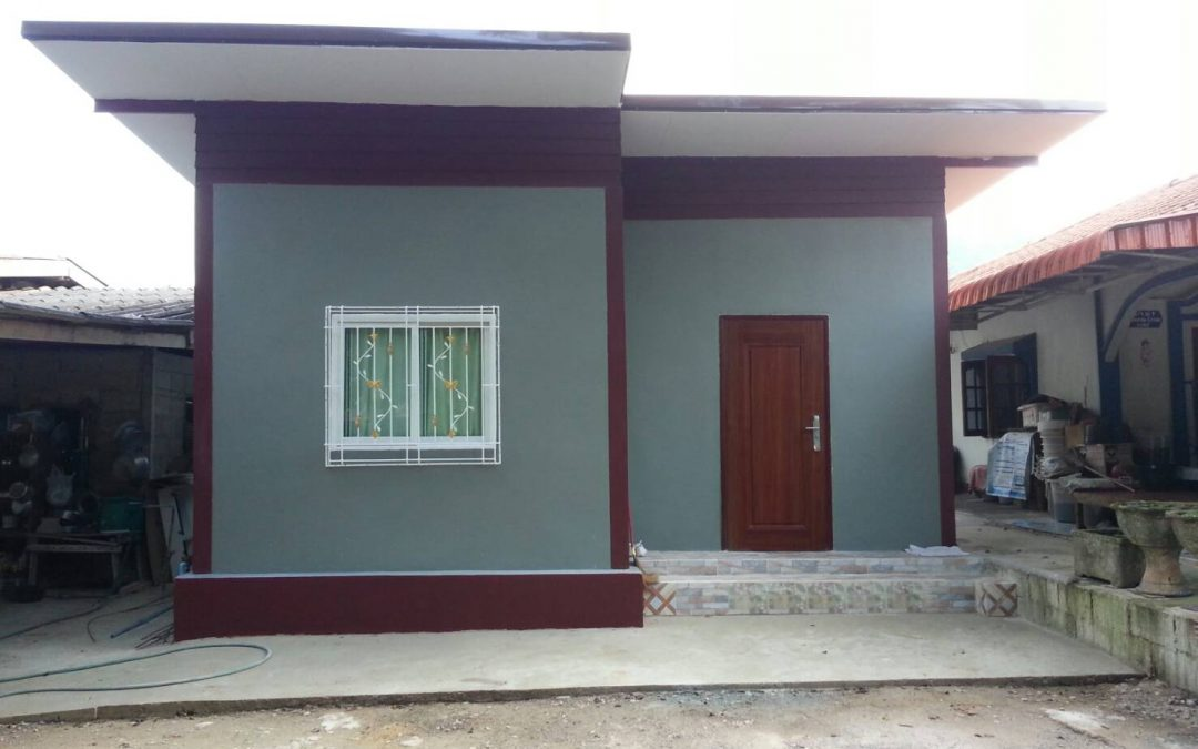 สร้างบ้านชั้นเดียวในงบประมาณจำกัดไม่เกิน 250,000 บาท